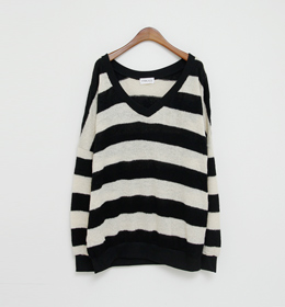 stripe loose knit(3color)